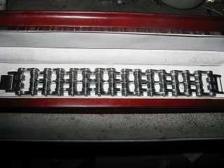 Biker Jewelry Stainless Steel Mens 1 inch wide Baddass Bracelet
