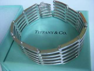 RARE Tiffany & Co. 18K White Gold & Sterling Silver Gatelink Bracelet