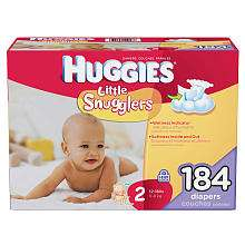 Huggies Little Snugglers Diapers   Size 2   184 Ct   Kimberly Clark
