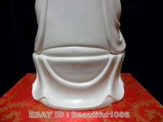 Chinese White Porcelain statue sitting Kwan yin