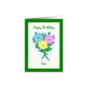 Happy Birthday Son Flowers Card: Toys & Games