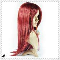 Long Dark RED Cosplay Party Straight full wigs Wig hair 66cm Synthetic
