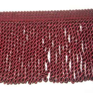 Conso 6 inch Ruby Red Knitted Bullion Fringe Trim by the