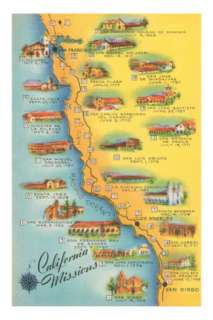 Map of the Missions, California Posters at AllPosters