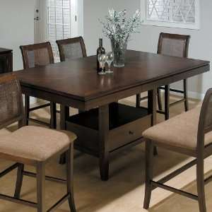 Boston Brown Butterfly Leaf Counter Height Table