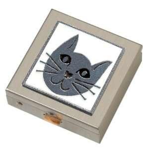 White Kitty Cat Small Pill Box