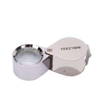 3PCS Jewelry Loupes 10x21mm 20x21mm 40x25mm glass Loop Magnifier