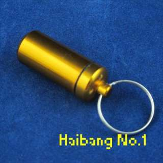 Waterproof Aluminum Pill Box Case Bottle Holder Container Keychain New