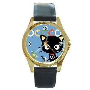 chococat black cat v5 Gold Metal Watch