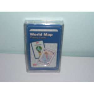 (AAA) World Map Playing Cards Toys & Games