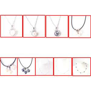 FASHION WOMENS CHARM NATURAL PEARL CRYSTAL NECKLACE PENDANT