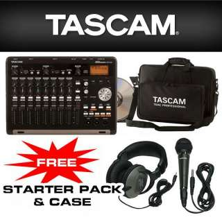 Tascam DP 03 DP03 Digital Portastudio with Free Headphone, Mic & Case
