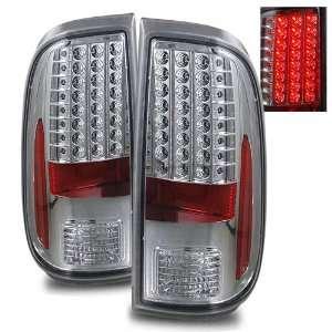 08 11 Ford Super Duty Chrome LED Tail Lights Automotive
