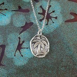 Wax Insignia Silver Wax Seal Charm Pendant Palm Tree