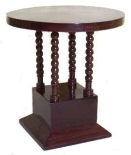Austrian Art Deco Mahogany Pedestal Side Table