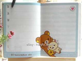 Rilakkuma Relax Bear Schedule Monthly Weekly Planner Organizer  JAPAN