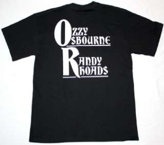 OZZY OSBOURNE RANDY RHOADS BLACK SABBATH HEAVY METAL NEW BLACK T SHIRT