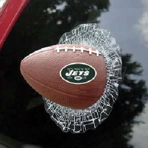 New York Jets NFL Shatter Ball Window Decal