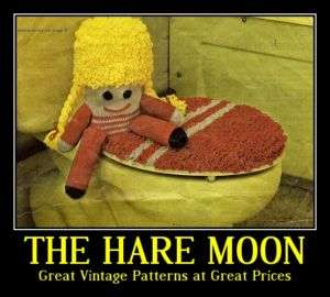 Novelty Knitting Pattern Toilet Seat/Toilet Roll Covers