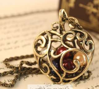 Heart love imitation FW Pearl Long alloy Pendent Necklace new