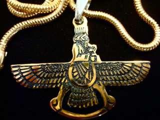 Farvahar Both side Design Gold & Silver Persia (Medium)