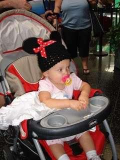 CUSTOM Crocheted MICKEY or MINNIE MOUSE EARS Beanie Hat