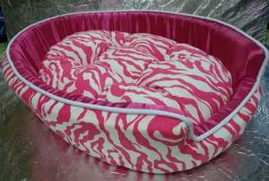 PINK ZEBRA DOG BEDS MAT CRATE for PETS Dog Cat SMALL