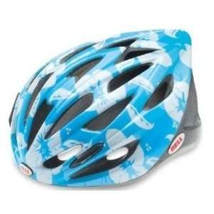 Bell Trigger Youth Cycling Helmet  Light Blue Flowers