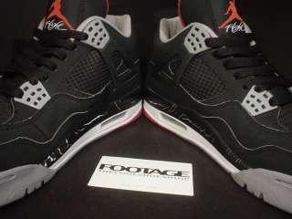 2008 Nike Air Jordan IV 4 Retro BLACK CEMENT GREY RED WHITE CDP