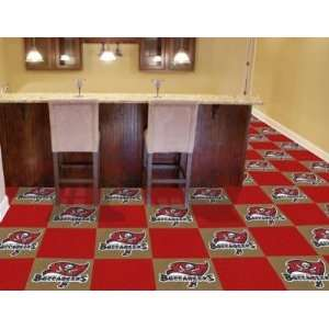 Tampa Bay Bucs Buccaneers 20 Pack Of 18in Area/Sports/Game Room Carpet