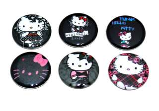 Punk inspired   Set of 6 one inch Pinback Buttons/Pins (Set2)