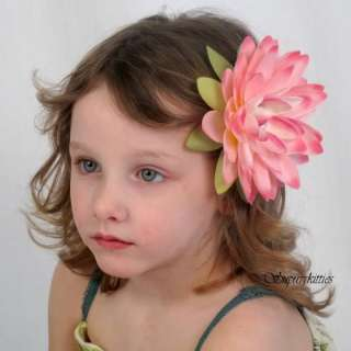flower clip features an extra large pink water lily flower that