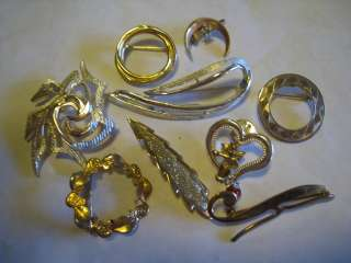 Sarah Coventry & Other Gold & Silver Tone Brooches, Pins