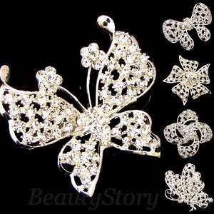 Item  rhinestone crystal bouquet flower brooch pin