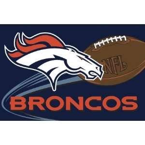 Denver Broncos Tufted Floor Rug   NFL Football Fan Shop Sports Team