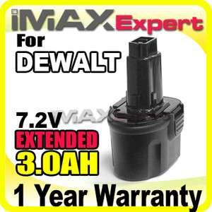 0AH NI MH 7.2V Battery for DEWALT DW9057 7.2 Volt Cordless Power Tool
