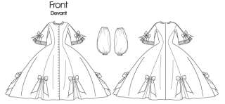 B5543 Butterick 5543 Civil War Victorian Dress Gown Costume Pattern