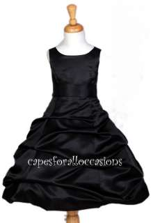 PICK UP BRIDAL FLOWER GIRL DRESS BLACK 4 6 7 8 10 12 14