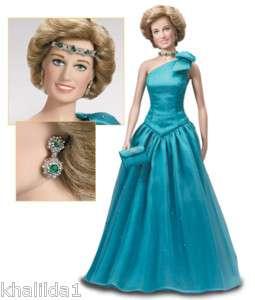 Franklin Mint Princess Diana Vinyl Portrait Doll B1F105