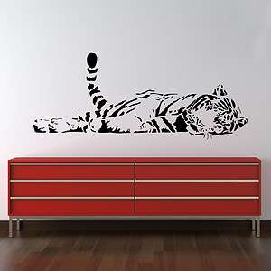 SLEEPING TIGER WALL STICKER DECAL ART BIG CAT GRAPHIC MURAL TRANSFER