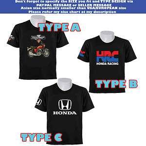 RARE HOT LIMITED HONDA MOTORCYCLE CB750 TOUR VINTAGE HRC LOGO T SHIRT