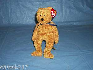 1999 TY BEANIE BABY FUZZ THE BROWN BEAR COLLECTIBLE