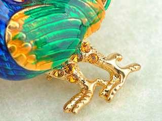 Royal Rooster Enamel Colorful Swarovski Crystal Rhinestone Bantam