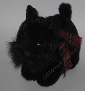 RUSS SHADOW Plush Scottish Terrier Dog Black 4810 Stuffed Animal Toy