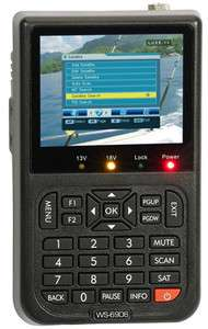 Satlink WS6906 Digital Satellite Signal Finder Meter DVB Data FTA
