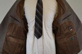 Vintage Joe Namath Mens Wool Brown Blazer Sports Coat 48R