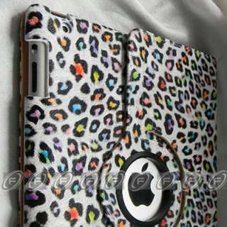 iPad 2 360° Rotating Crocodile Leather Smart Cover Case with Swivel