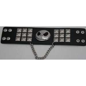 Jack Skellington Black and Metal Bracelet   Disney Parks Exclusive