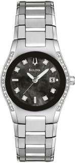 Bulova Ladies Black Mother of Pearl Dial Watch 96R132
