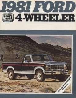 1981 Ford F 150 F Series Pickup Truck Sales Brochure
